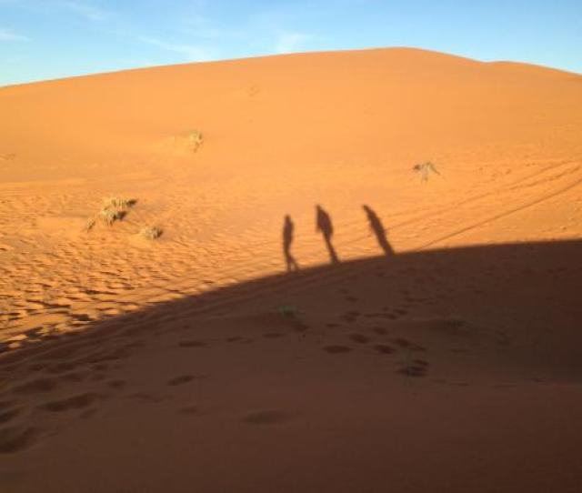 Morocco Exploration Trips Shadows Of Us Walking Across The Sahara Desert