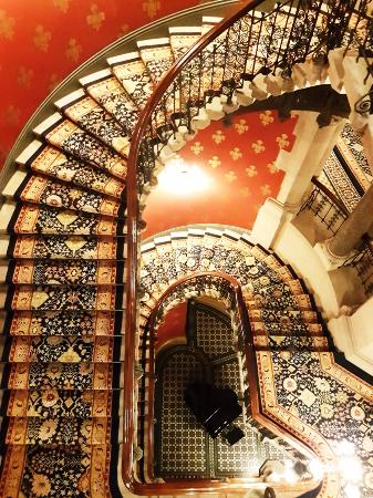 Grand staircase with grand Piano