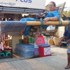 Sedan Chair Rental Xmas Covers Australia A Carried By Four Men Is Popular Way Of Moving Around Kyaiktiyo Pagoda