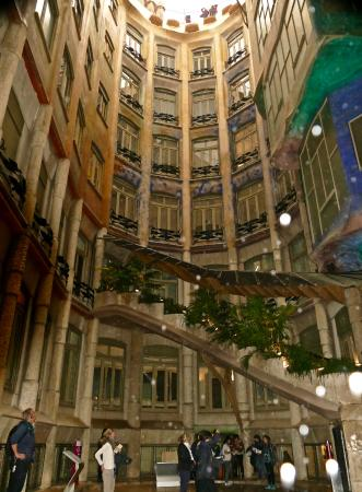 Casa Mila Courtyard on a Rainy Day  Picture of Casa Mila  La Pedrera Barcelona  TripAdvisor