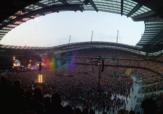 The Start Of The Coldplay Concert.