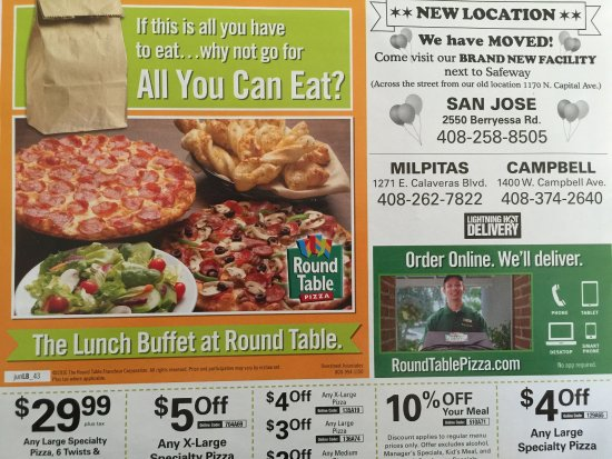 round table pizza coupons thornwood san jose
