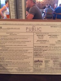Menu at The Public Kitchen & Bar - Picture of The Public ...