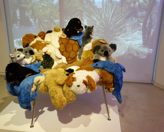 stuffed animal chair hook on table high reviews by campana brothers picture of palm springs art museum in desert