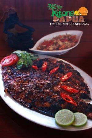 Bumbu Rujak Ikan : bumbu, rujak, Bakar, Bumbu, Rujak., Roasted, Rojak, Sauce, Picture, Kitong, Papua, Resto,, Sorong, Tripadvisor