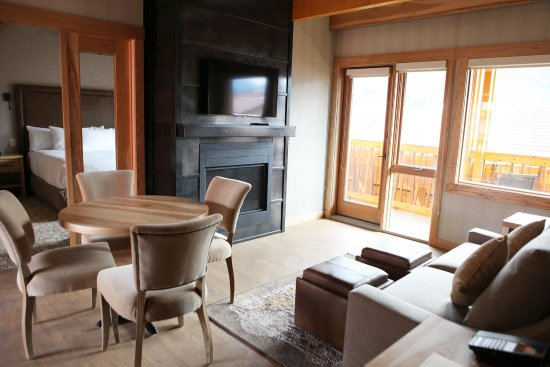 hotel with living room bob furniture set cozy fireplace picture of moose and suites