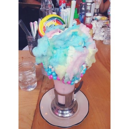 cotton candy milkshake picture