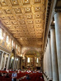 Gold coffered ceiling of Basilica Maria Maggiore