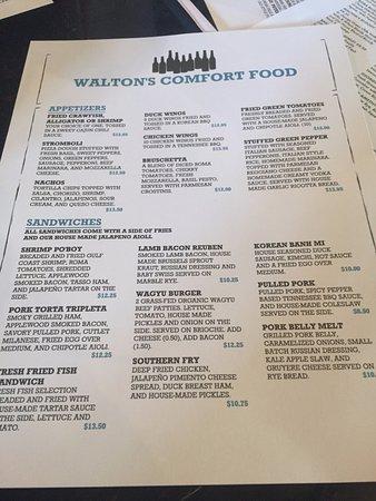 Front menu Picture of Walton39s International Comfort