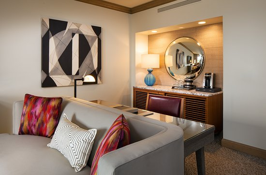 living room mini bar red sectional canyon suites picture of the at phoenician