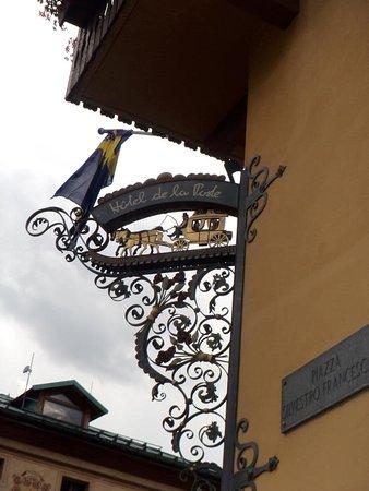 hôtel de la poste****, cortina d'ampezzo. L Insegna Storica Picture Of Hotel De La Poste Cortina D Ampezzo Tripadvisor