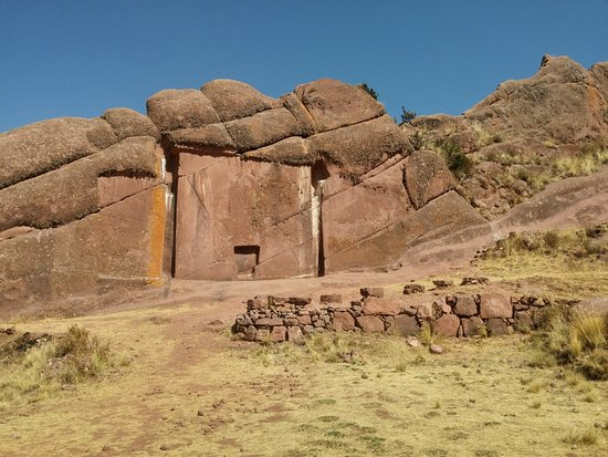 Continuing our journey by shores of the. A Mystery Place Easy To Find Review Of Portal De Aramu Muru Puno Peru Tripadvisor