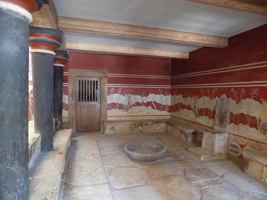 sala del trono del re Minosse  Foto di Il Palazzo di Cnosso Heraklion  TripAdvisor