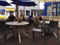 Breakfast on the patio - Picture of Post Office Cafe ...