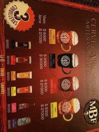beer menu - Picture of Medellin Beer Factory, Medellin - TripAdvisor