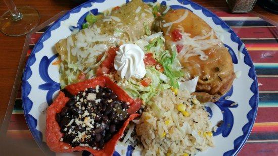 Vegetarian combo  again massive plate with a ton of food  Picture of Casa Guadalajara San Diego  TripAdvisor