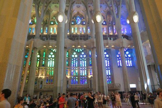 basilica of the sagrada familia la sagrada familia interior