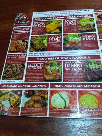 Menu Sambal Karmila : sambal, karmila, IMG_20161015_205047_large.jpg, Picture, Sambal, Karmila,, Bandung, Tripadvisor