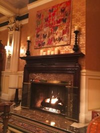 Fireplace in lobby - Picture of Lenox Hotel, Boston ...