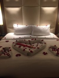 Bed anniversary decoration - Picture of JW Marriott ...