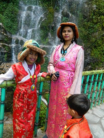 in traditional sikkim dress