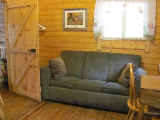 sofa sleeper for cabin camas baratos barcelona log picture of suwannee river rendezvous resort campground