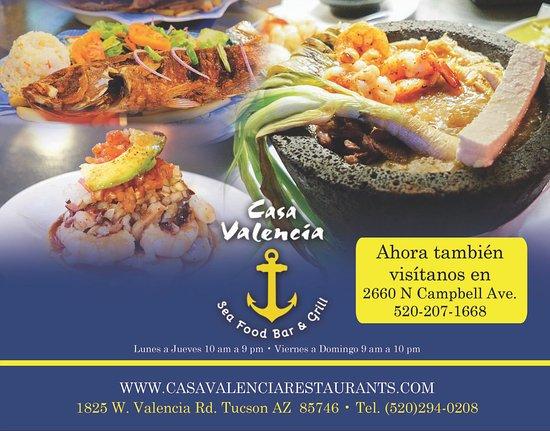 Casa Valencia Seafood Bar and Grill Tucson  Omdmen om restauranger  TripAdvisor