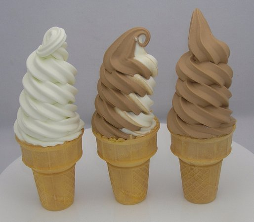 vanilla ripple chocolate soft serve ice cream Picture
