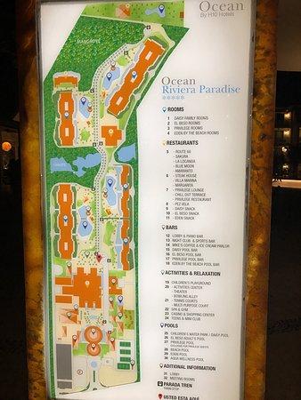 Resort Map Picture Of Ocean Riviera Paradise Playa Del
