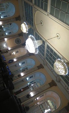Adelphi Hotel Spa Chandeliers In The Lounge