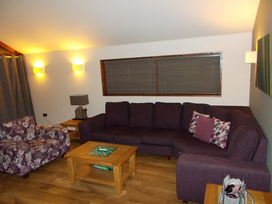 cosy living room with log burner pic of modern this is the just out shot to forest holidays ardgartan argyll scotland