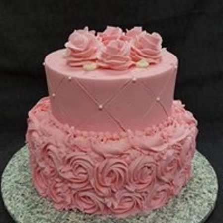 Sweet 16 Birthday Cake 6 and 8 inch tiers  Picture of