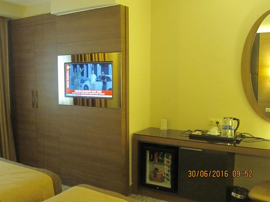 Double Room There Are A Wardrobe Tv Minibar And An
