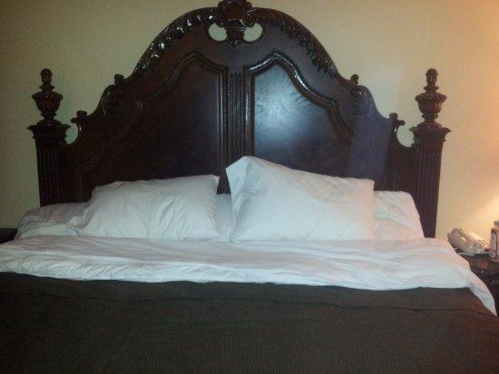 Econo Lodge At The Falls North Beautiful King Size Bed Uncomfortable Mattress