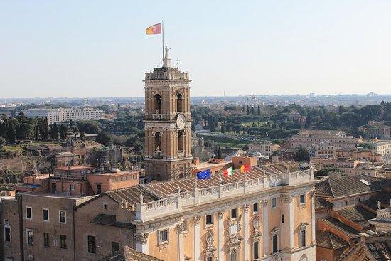 Quadriga  Roma dal Cielo Terrazza delle Quadrighe