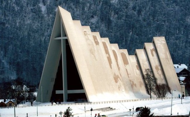 The Arctic Cathedral Tromso Norway Photo De