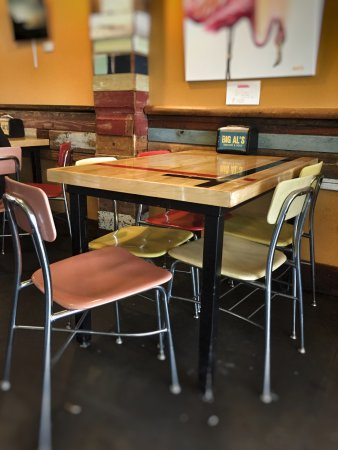 al s chairs and tables wood accent chair from wool hat furniture picture of big burgers dogs