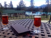 beer on the patio - Photo de Jasper Park Lodge, Jasper ...
