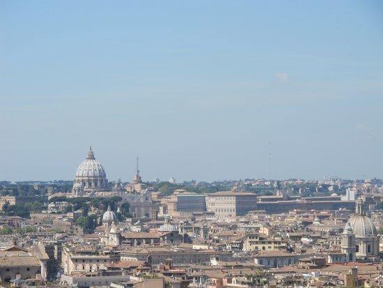Roma dal Cielo Terrazza delle Quadrighe  What a view