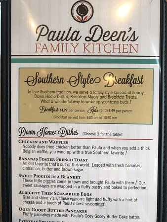 paula deen kitchen table bar for small menu! - picture of deen's family kitchen, pigeon ...