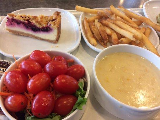 Cheese cake. french fries. corn soup - Picture of IKEA Restaurant. Atlanta - Tripadvisor