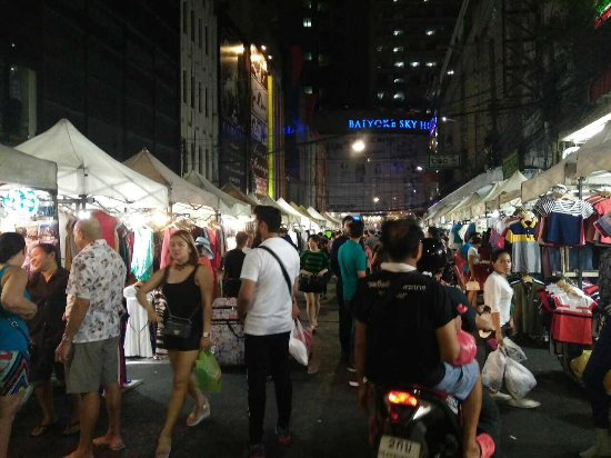 Night Market In Front Picture Of Baiyoke Sky Hotel