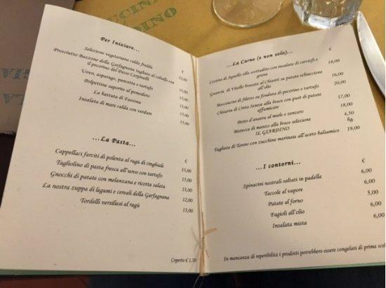 Il men  Foto di La Cucina del Glardino Forte Dei Marmi