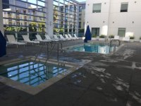 Pool and Fire Pit on second floor - Picture of Hampton Inn ...