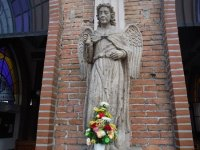 FRONT DOOR STATUE - Picture of The Church of Our Lady of ...