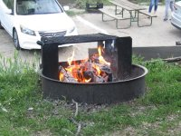 Fire pit - Picture of High Sierra RV Park & Campground ...