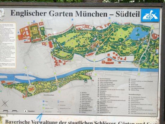 English Garden Map Photo De Englischer Garten Munich TripAdvisor