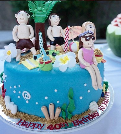 Personalised Bday Cake Picture Of Beecup Sanur Tripadvisor