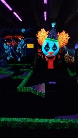 Glow in the dark mini golf  Picture of Monster Mini Golf