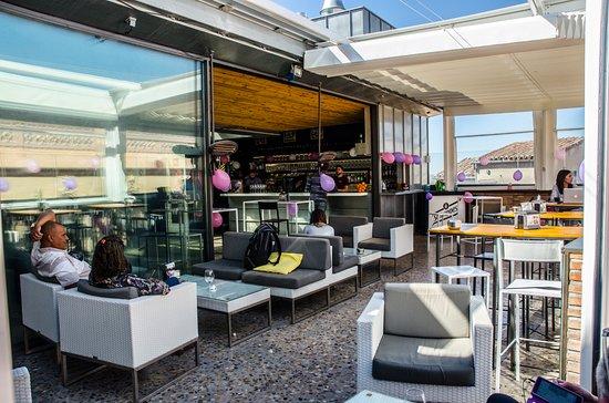 Resultado de imagen de terraza mercado de san agustin toledo